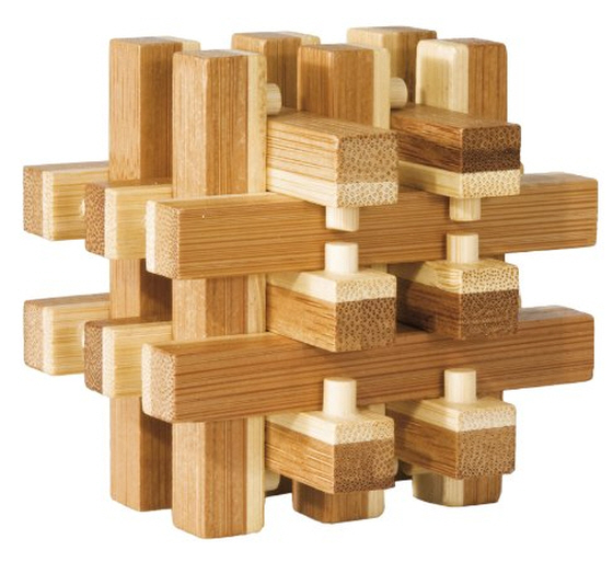 Bamboo log pile Puzzle