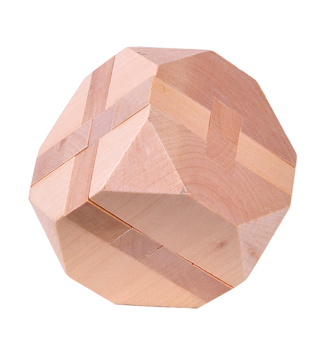 natural wooden puzzle cube puzzle