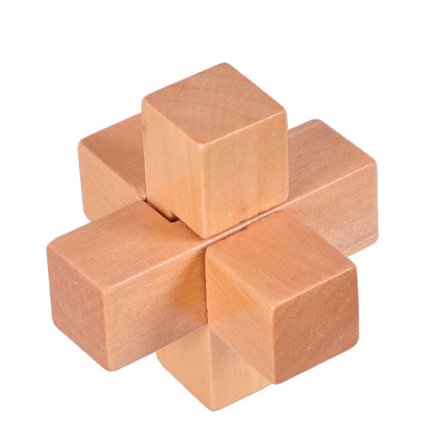 Mini wooden burr puzzle