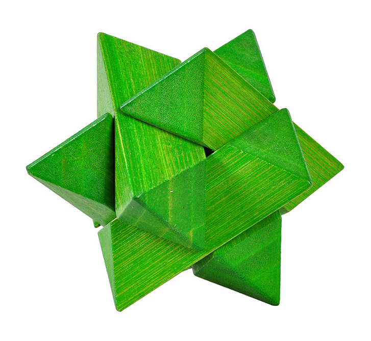 Green Star Puzzle 3d brain teaser