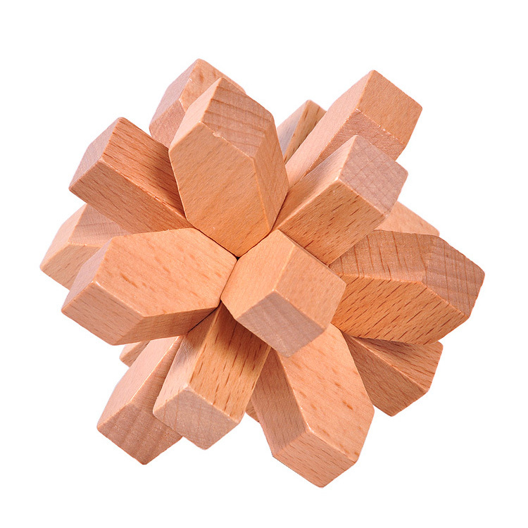 Snow Flake wooden puzzle
