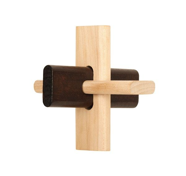 Natural wood traditional 3 pieces puzzle