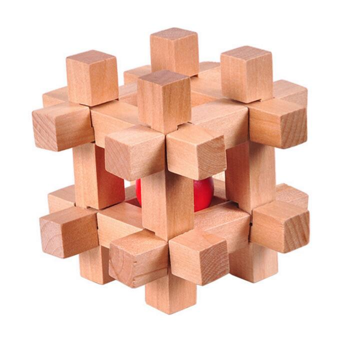 Natural Wooden Trap Ball Puzzle