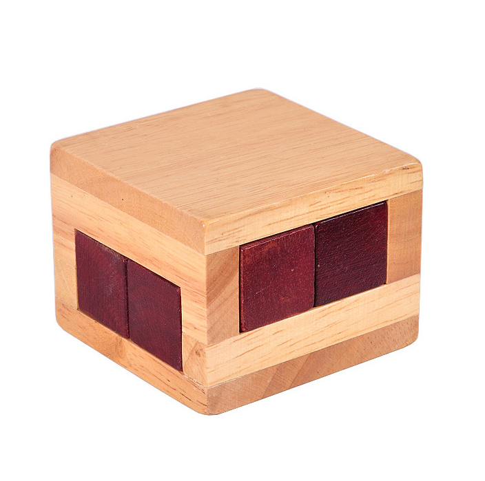Wooden IQ Test Box Puzzle with Blocks