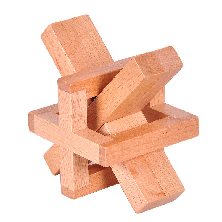 Natural Wooden Tricky Puzzle Gift