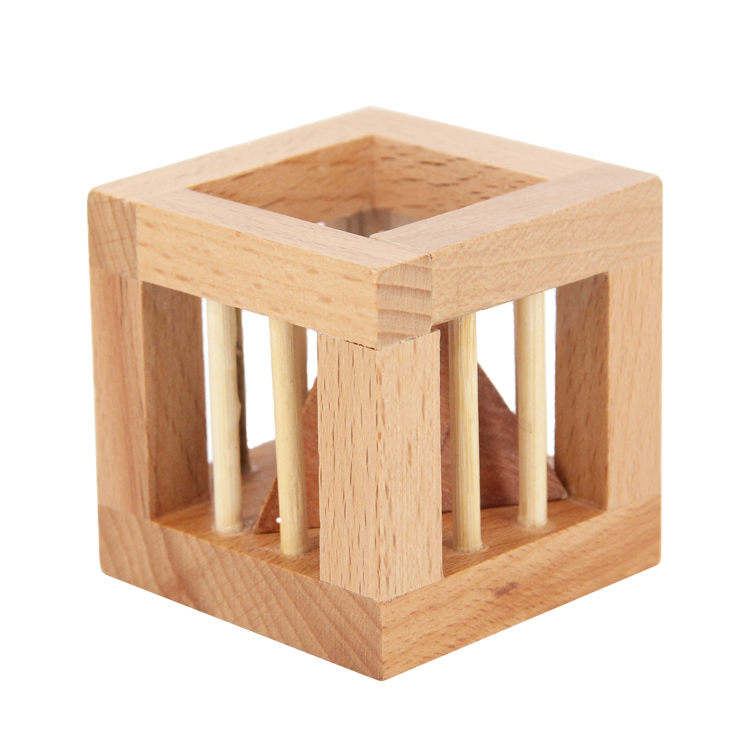 Traditional Tricky Wooden Free Pyramid Puzzle