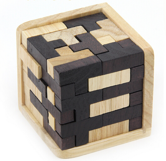 Wooden 3D Cube Educational Toy for Kids and Adults