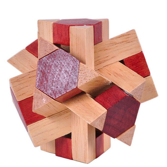 IQ test wooden interlock puzzle