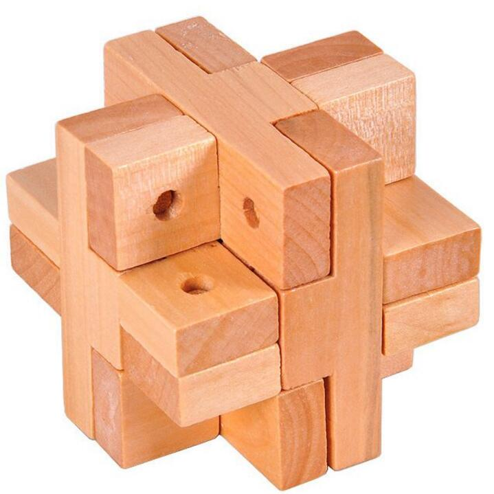 Natural Wooden Luban Lock Puzzle