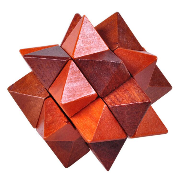 wooden huge star puzzle