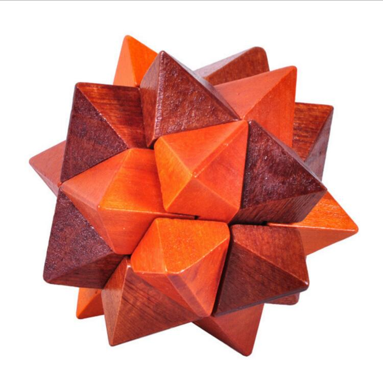 Wooden burr star puzzle for adult