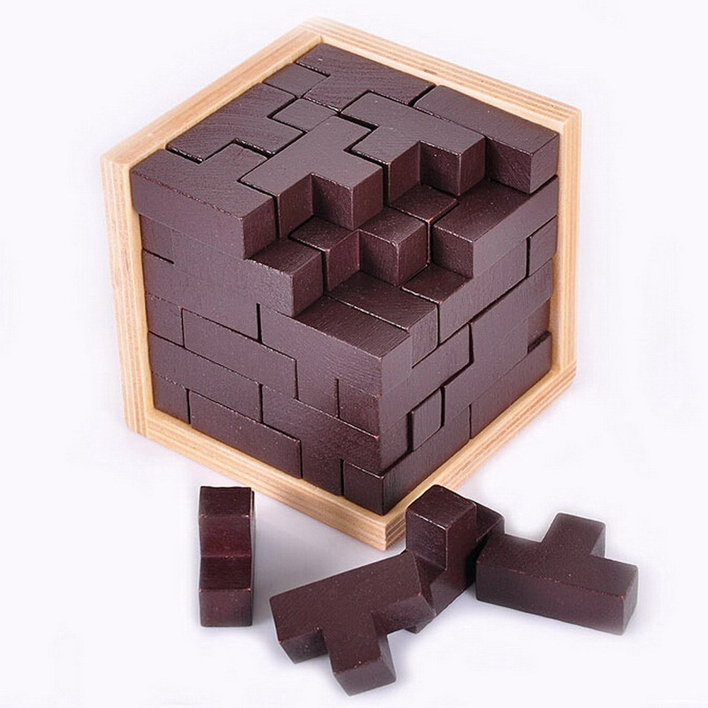 Wooden Russian Blocks Game