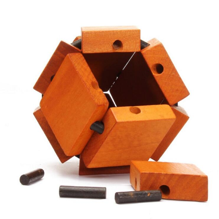 wooden chestnut ball puzzle