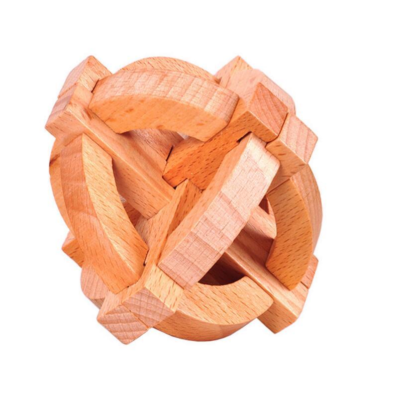 Wooden Interlocking Promotion Round Puzzle