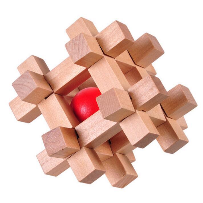 Mini Wooden Ball Puzzle Locking