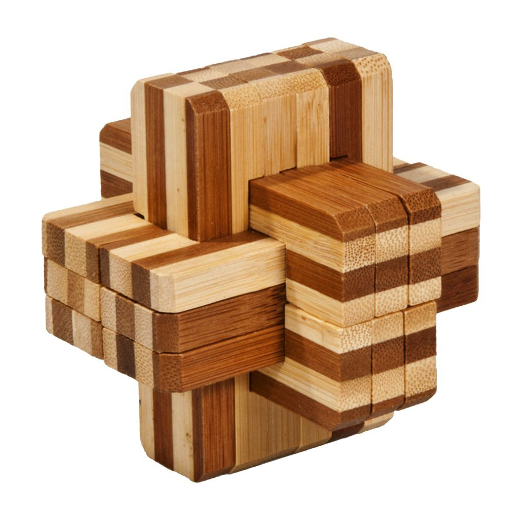 bamboozler high quality wooden cube puzzle