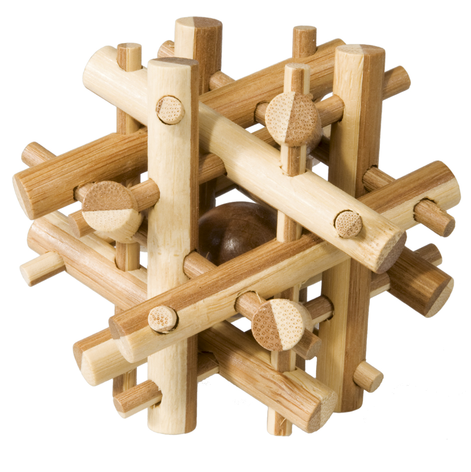 bamboo nest ball puzzle