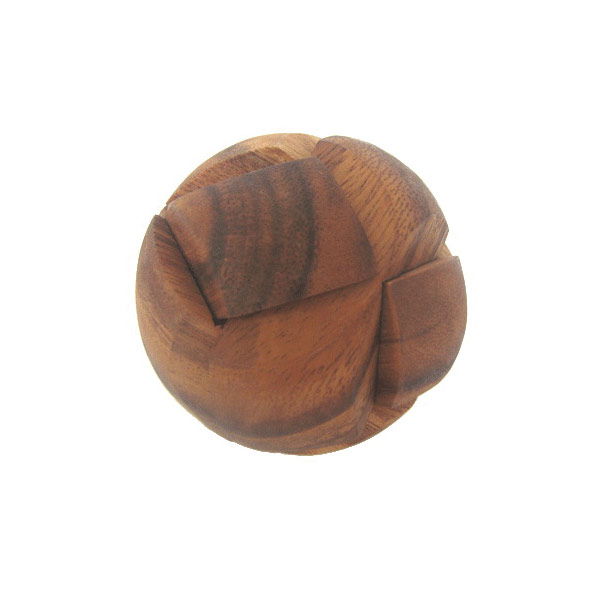 Natural wooden ball black puzzle