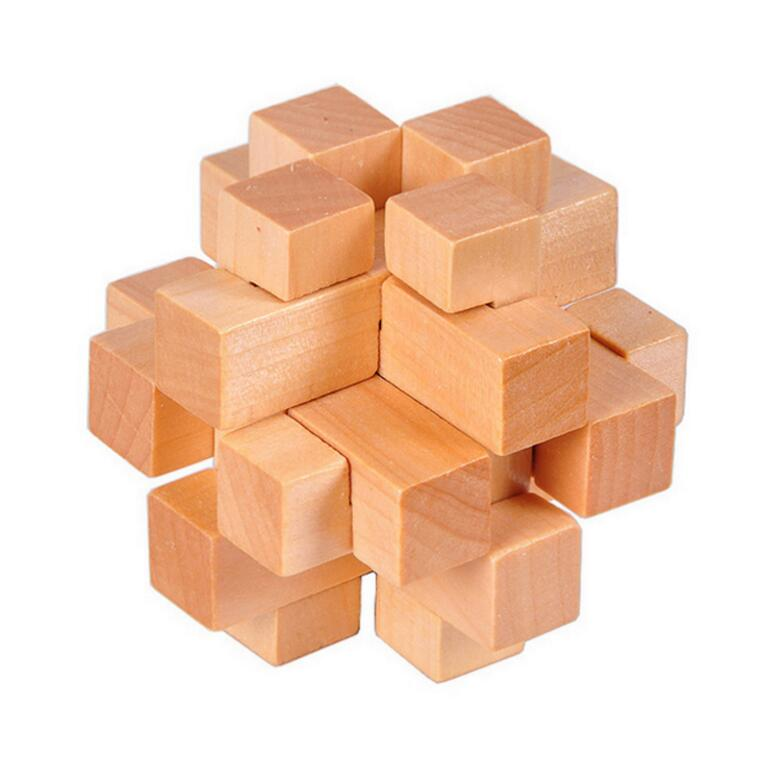 Wooden 12 pieces burr puzzle