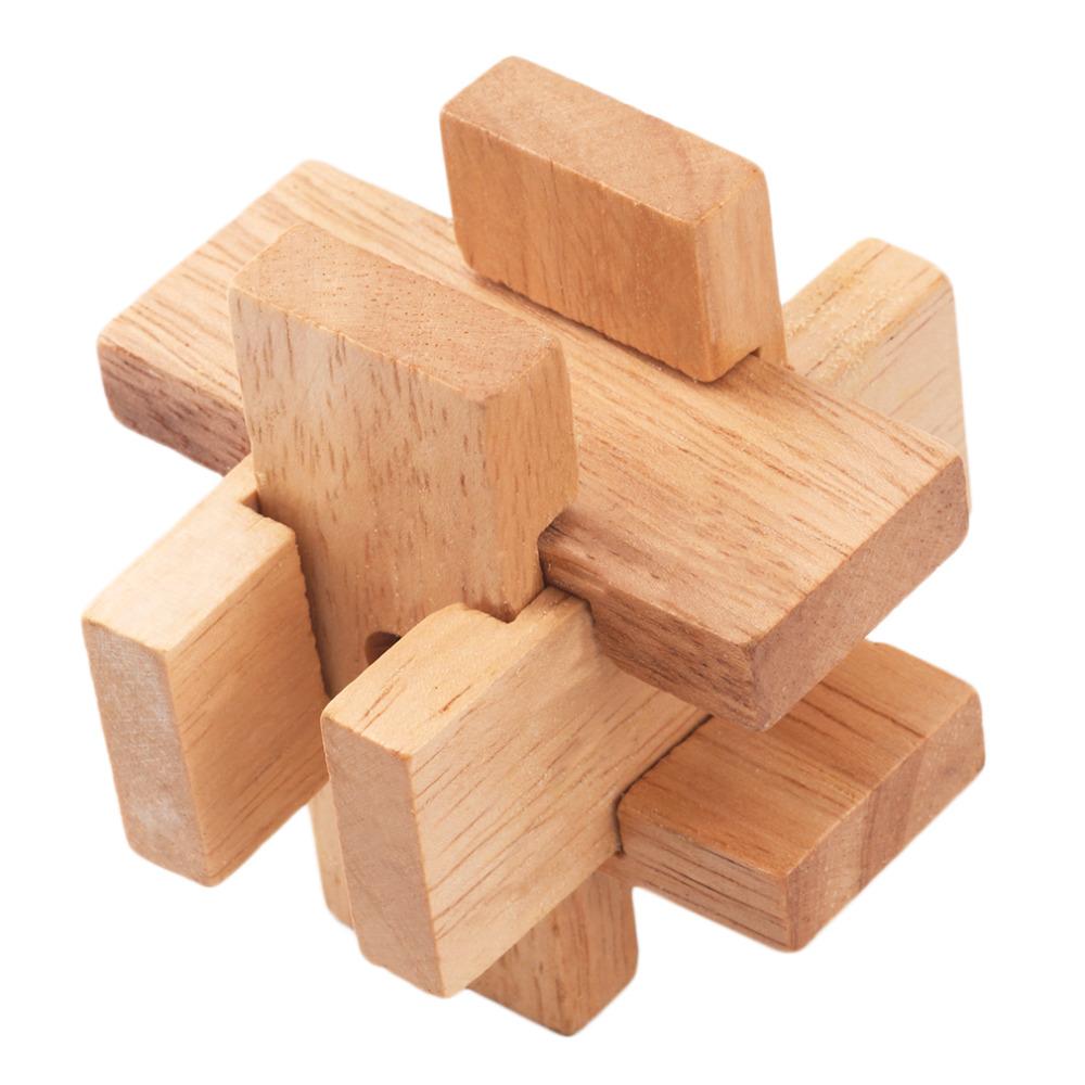 Wooden box IQ test puzzle