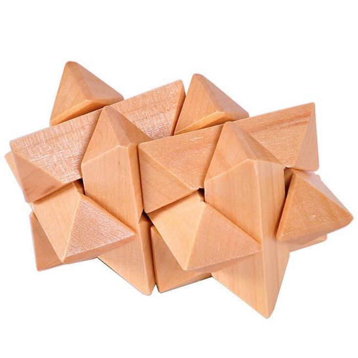 wooden traditional wood stars puzzle