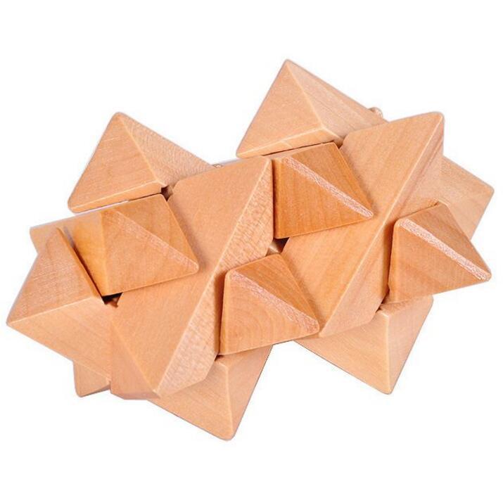 wooden stars puzzle set