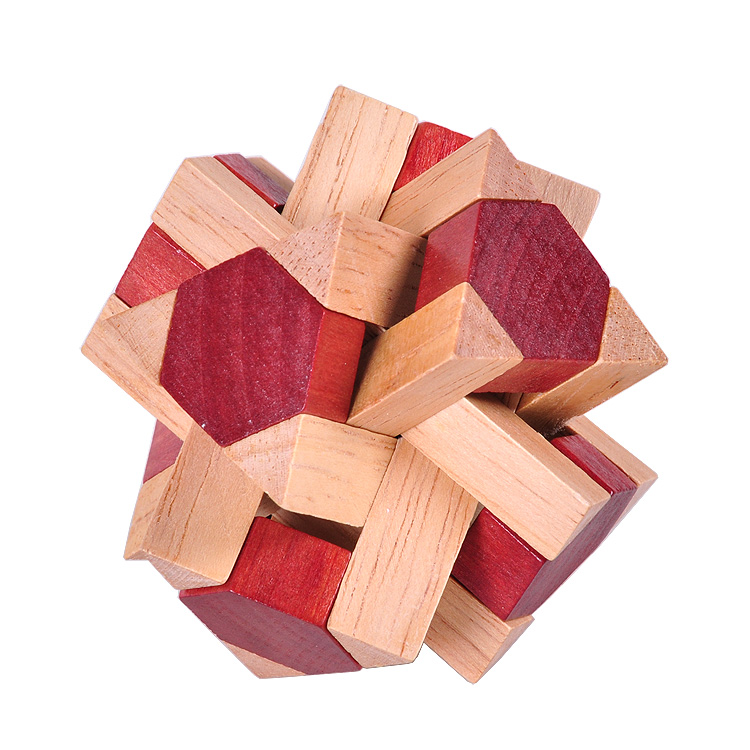 colorful wooden brain teaser desk puzzle