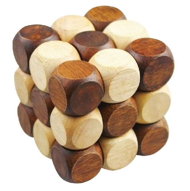 coffee table wooden snake cube gift
