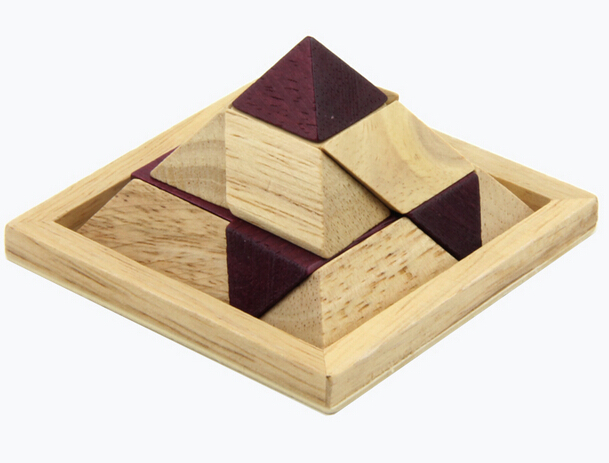 wooden pyramid puzzle