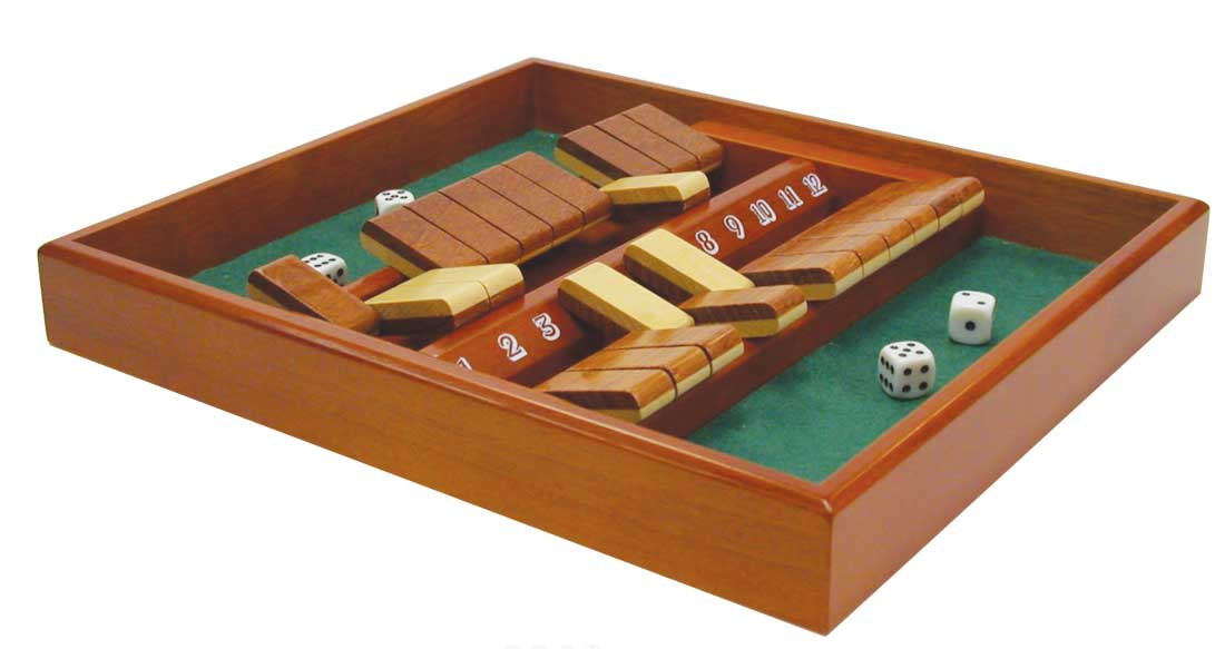 12 number shut the box wooden game