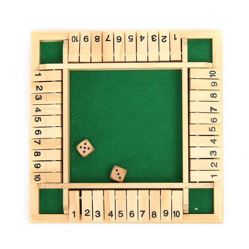 SHUT THE BOX for 4 players
