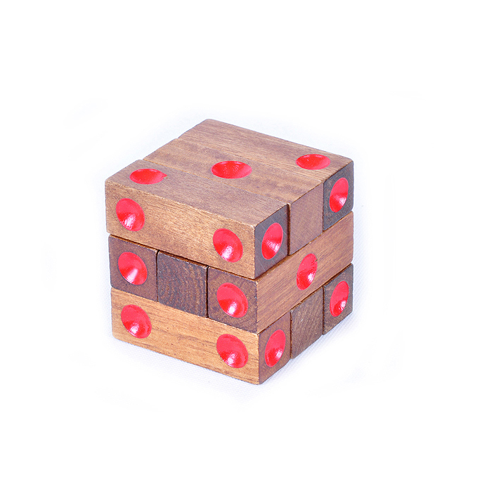wooden stack dice
