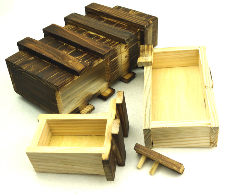 wooden IQ box