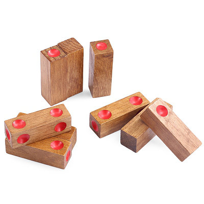 wooden assembly dice game