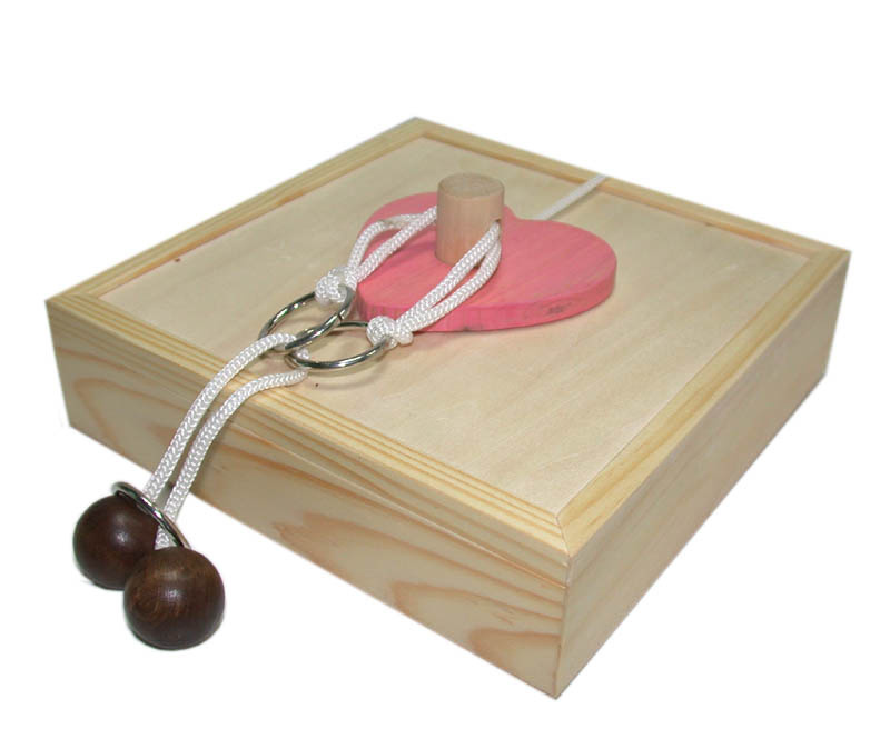 wooden lover heart box