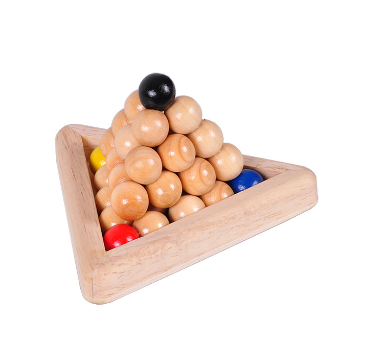 wooden IQ ball puzzle