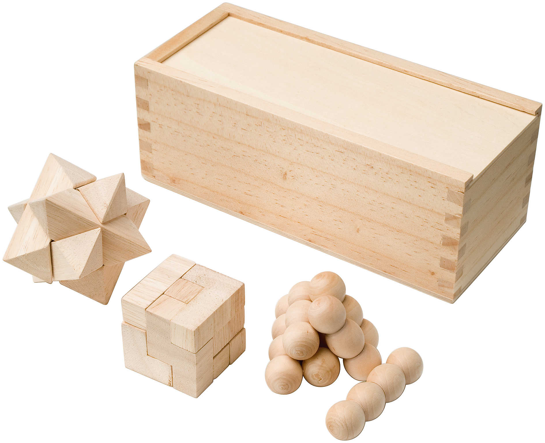 natural wooden 3 in 1 puzzle