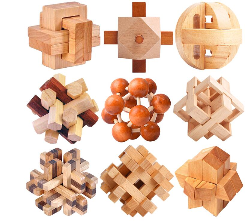 wooden puzzle set ---- wooden puzzle set for adult as gift.