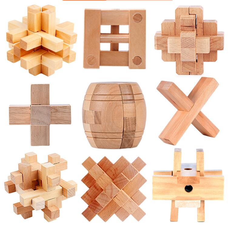 wooden table puzzle game