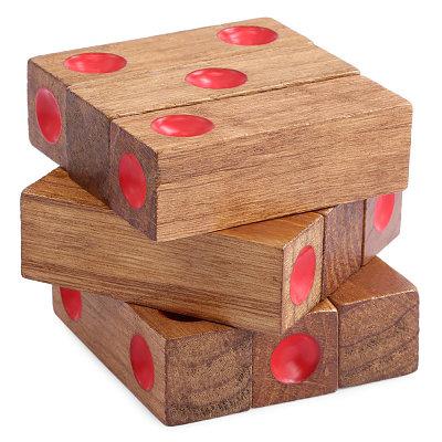 wooden gambling dice