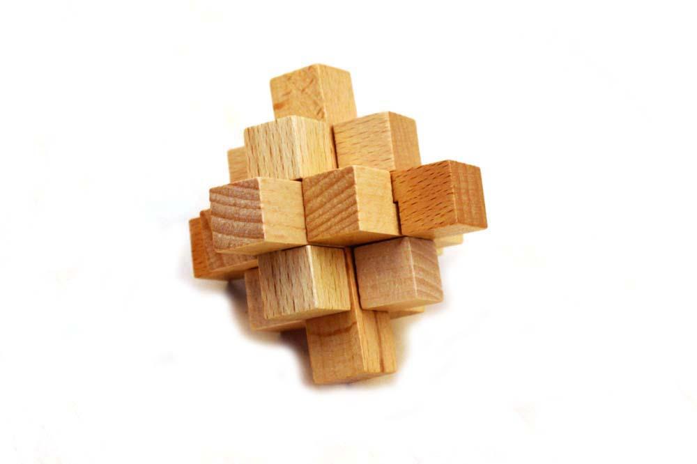 interlocking puzzle set ---- wooden puzzle set for adult