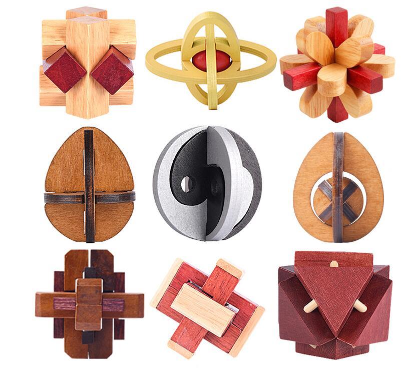 classical wooden puzzle set