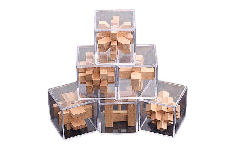 wooden mini puzzle set for adult