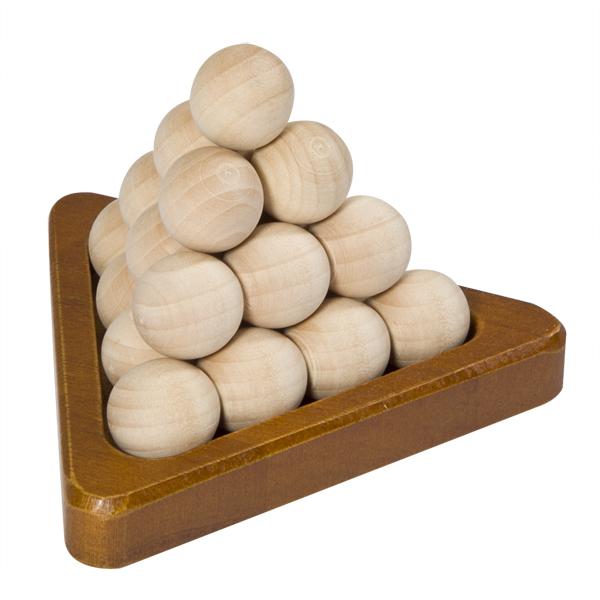 natural wood pyramid puzzle