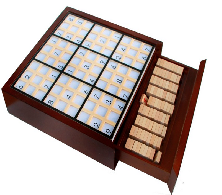 wooden math game