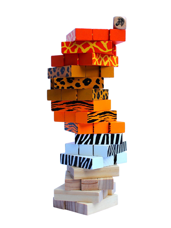 wooden stacking block game