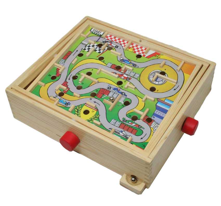 Wooden marble game for kids