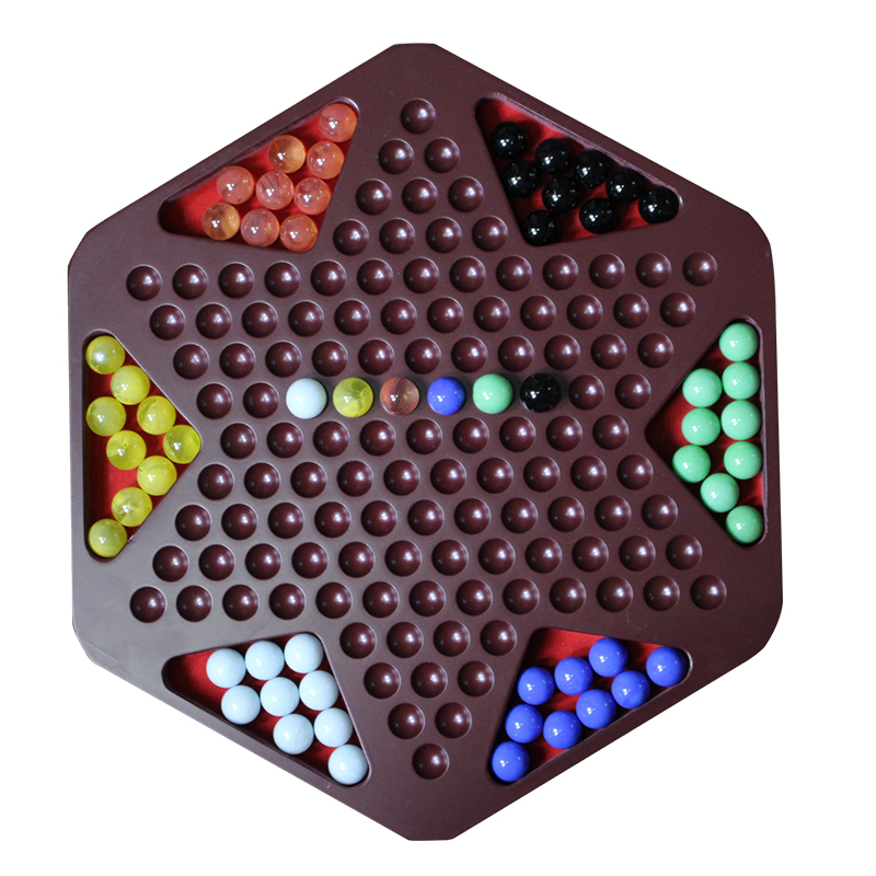 wooden marble game set