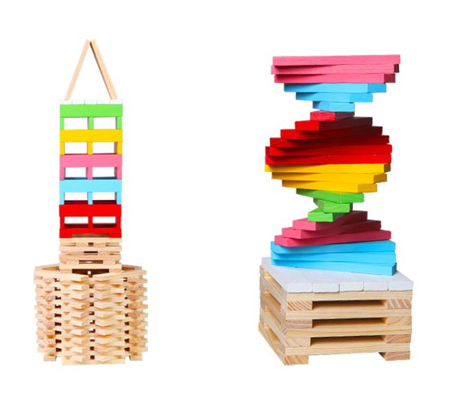 wooden stacking blocks set