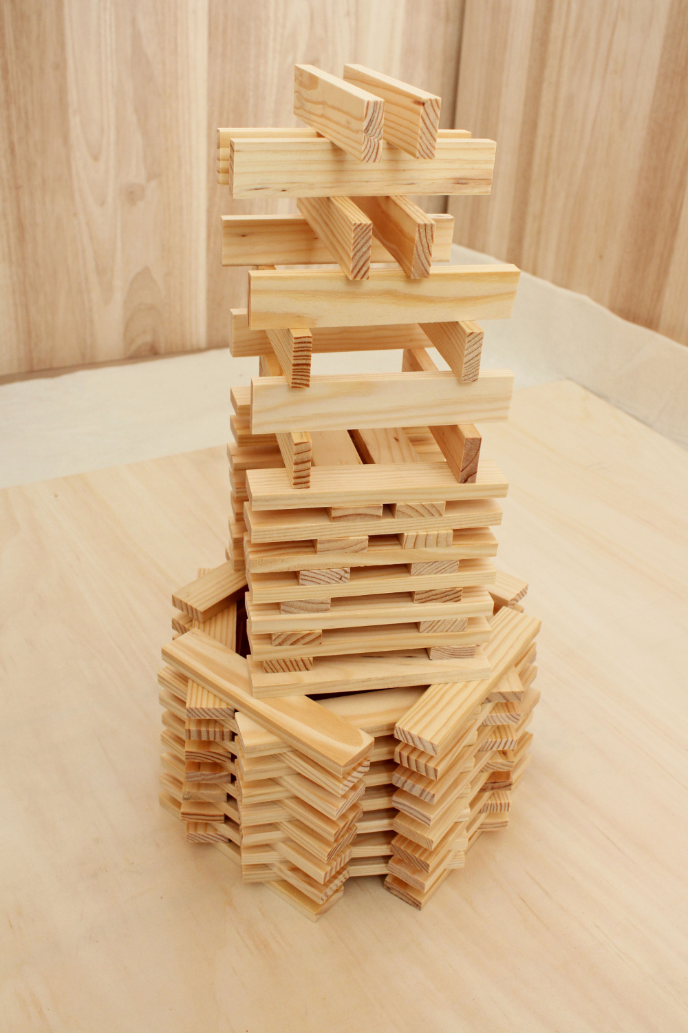Wooden plank blocks wooden structure building blocks set for Plank blocks